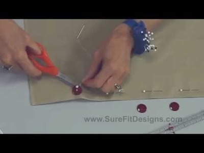 How to hand sew a Button with Thread Shank - a Couture Tip