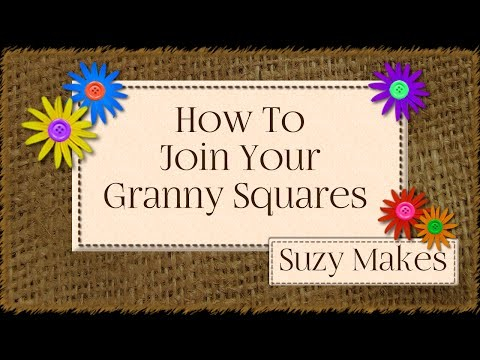 How to Join Granny Squares using UK Double Crochet