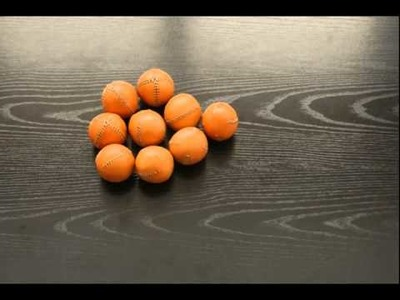 How to make 9 orange leather juggling balls