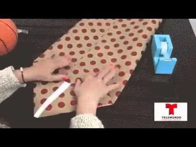 How to make a gift bag out of wrapping paper for odd shaped gifts