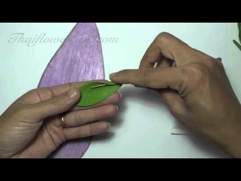 How to make a rose clay flower 1(for beginners)