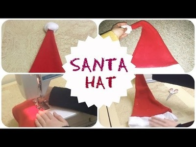 How to make an EASY Santa Hat!