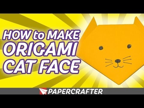 How to Make an Origami Cat Face | Origami for Kids