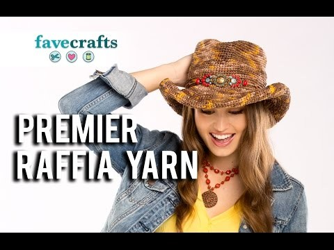 How To Make Easy Placemats with Premier Home Raffia Yarn  - Plastic Canvas Craft