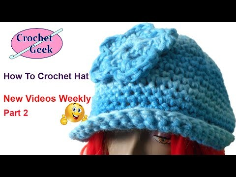 How to make Single Crochet Hat Part 2