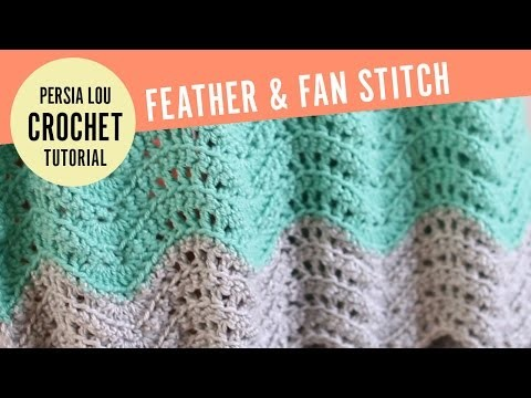 How to Make the Feather and Fan Crochet Stitch