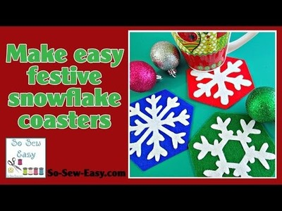 How to sew Snowflake coasters