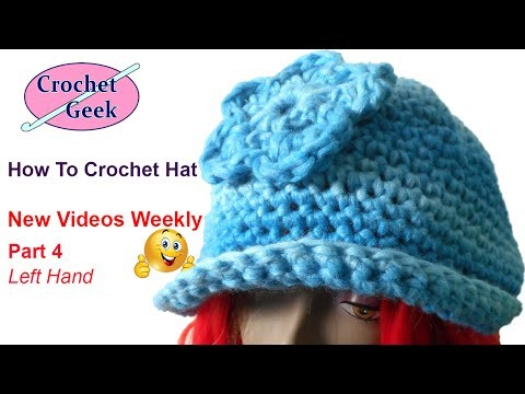 How to Single Crochet Hat Left Hand Part 4