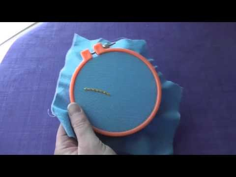 How to Work Backstitched Chain Stitch