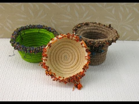 Learn How to Make a Fiber Coil Beaded Basket