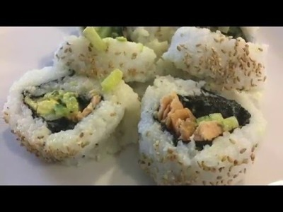 Learn How to Make Simple Sushi with Cooked Salmon