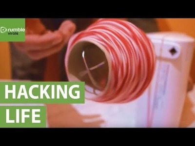 Life hack: How to quickly wind up yarn