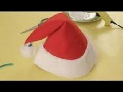 Origami Christmas - How to make an Origami Santa Claus Cap.Hat