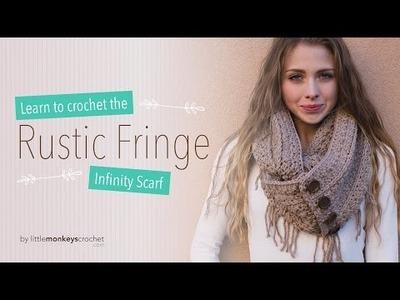 Rustic Fringe Infinity Scarf Crochet Tutorial