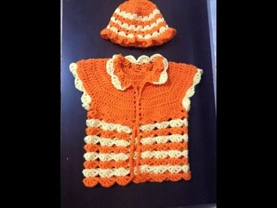 Simple baby sweater crochet Tamil.English - video 2