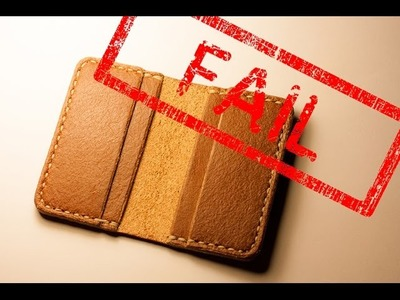 """4 pocket card holder fail or """"how to waste some leather"""""""