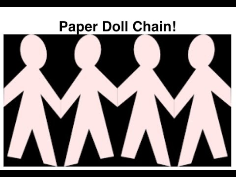 Art and how to make with the Robertson's ep 2: How to make a paper doll chain