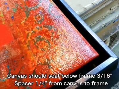 """Framing: How To Frame A Roll Canvas - """"Red Abstract"""" - Part 2"""