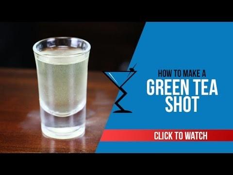 Green Tea Shot - How to make a Green Tea Shot Recipe by Drink Lab (Popular)