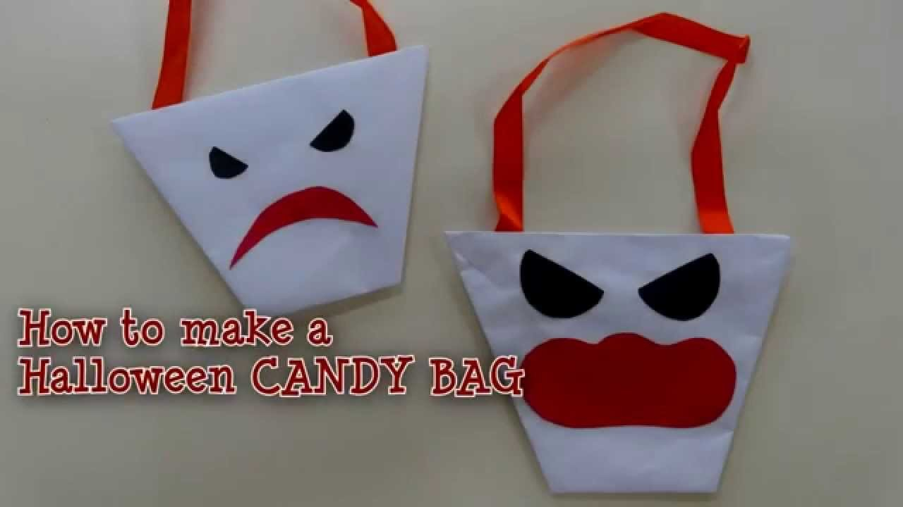 Halloween Ideas - How to make a CANDY BAG
