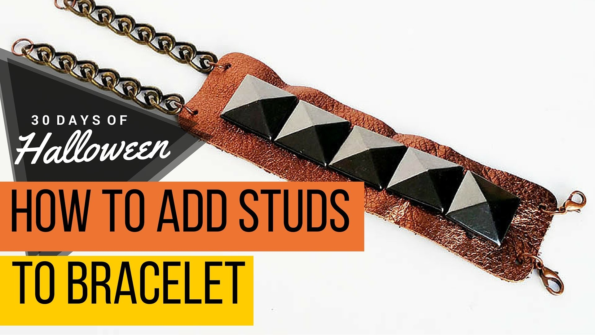 How to Add Studs to Leather Bracelet #JPHalloween