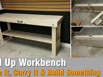 How To Build A Workbench Out Of 2x4 and Plywood - That Folds Up