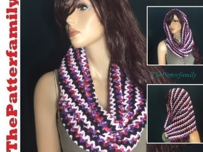 How to Crochet a Cowl. Neckwarmer. Loop Scarf Pattern #49│by ThePatterfamily
