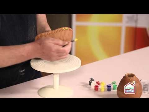 How to Decorate an Air Dry Pinch Pot Bowl with Acrylic Paint | Craft Academy
