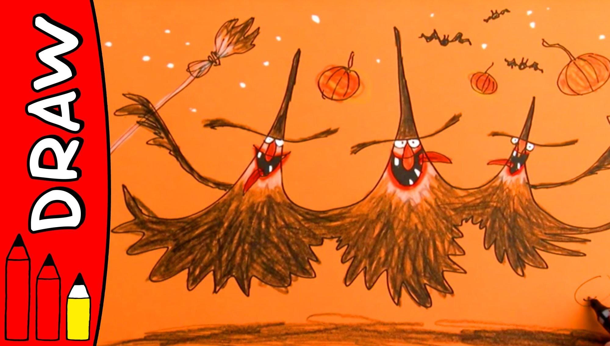 How To Draw Witches | Halloween Ideas For Kids | Øistein Kristiansen