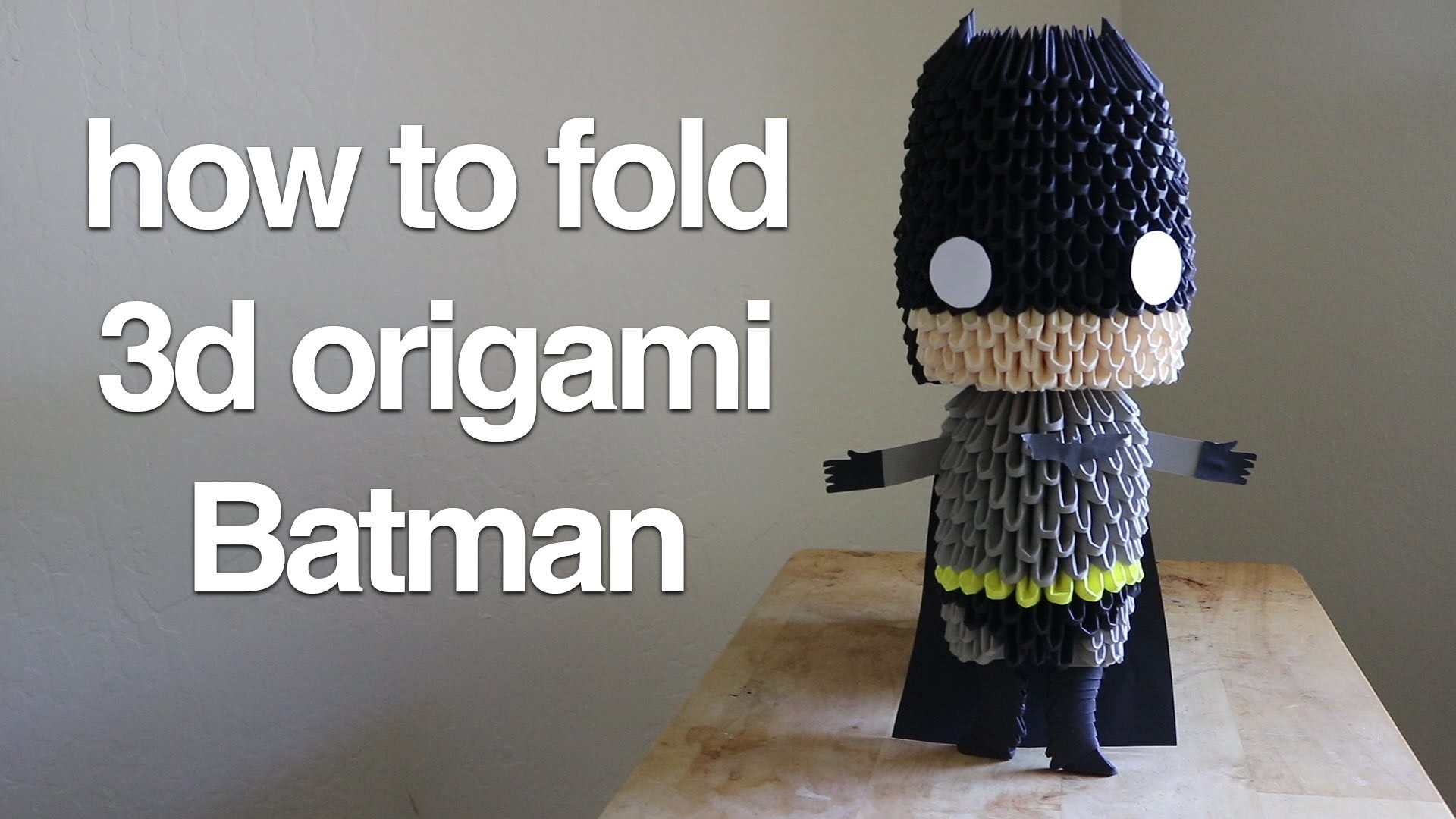 How to fold 3d origami Batman