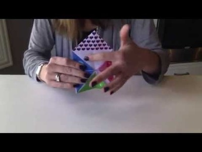 How To Fold a Paper Fortune Teller