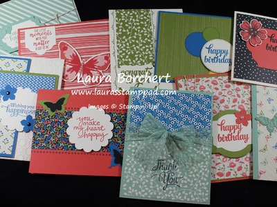 How to Get 70+ Cards from 1 Pack of Stampin' Up! Pretty Petals Paper Pack - Laura's Stamp Pad