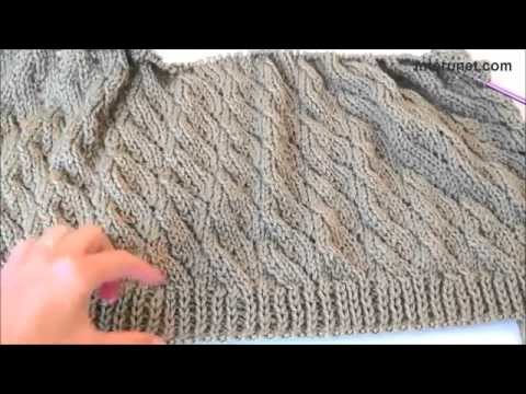 How to knit a cardigan sweater  Knitting tutorial.The Apparel