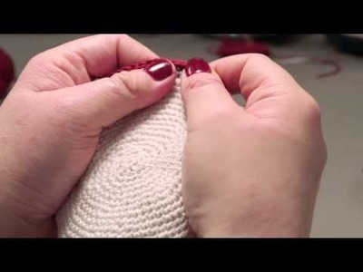 How to knit a kippah- step 8 (Final)