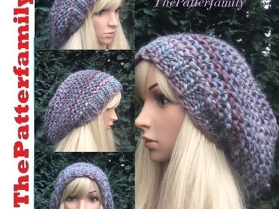 How To Knit a Slouchy Hat Pattern #36│by ThePatterfamily