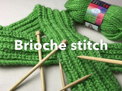 How to Knit Brioche stitch | Bulky Brioche Scarf on Needles