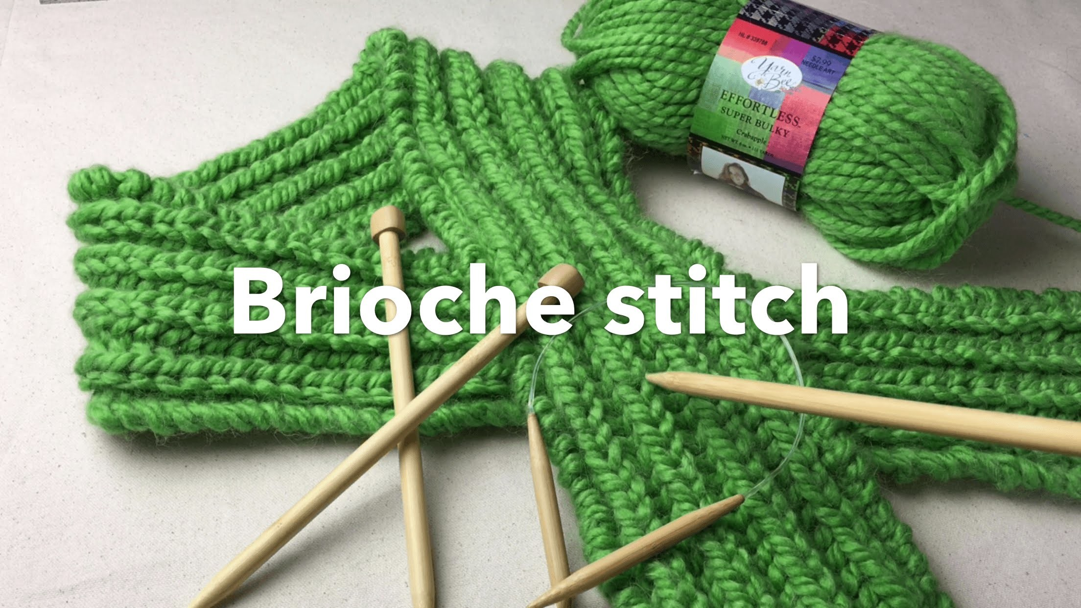 How to Knit Brioche stitch | Bulky Brioche Scarf on Needles