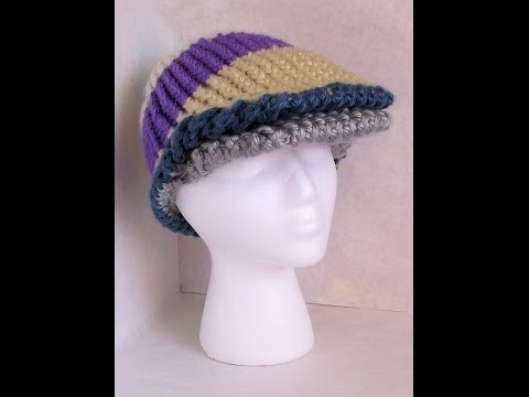 How to Loom Knit Flat Cap Adult