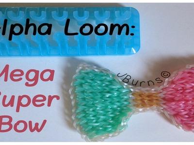 How to Loom: Mega Super Bow charm (Alpha Loom)