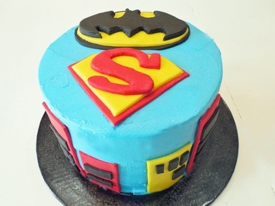 How to Make a Batman Superman Birthday Cake with Jill