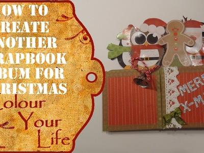 How to make a Christmas Mini Album last minute #2