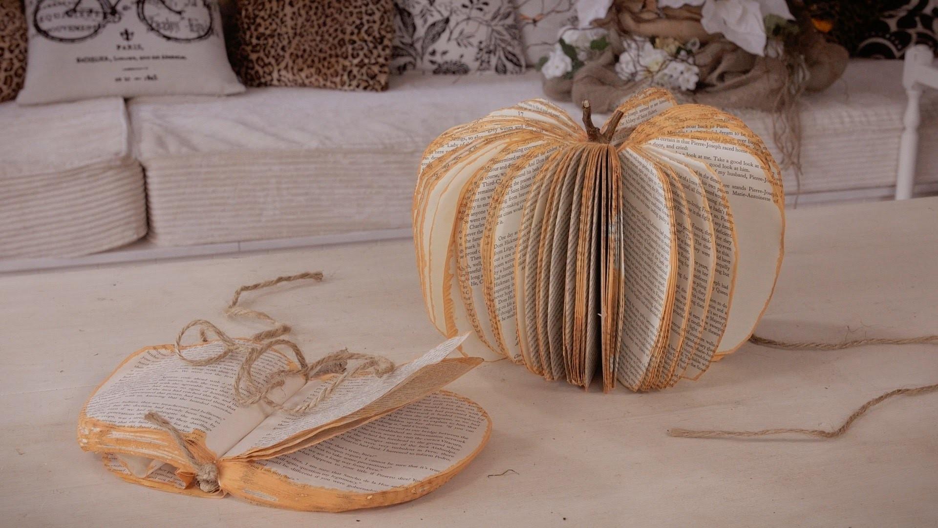 How to make a Concertina Thanksgiving Pumpkin