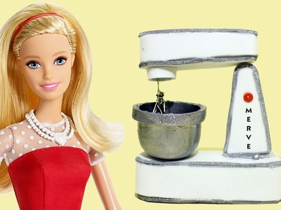 How to make a Doll Tilt-Head Stand Mixer - easy doll crafts