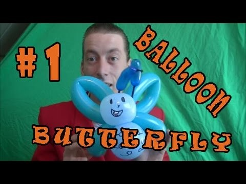 How To Make a Easy Balloon Butterfly (Cool Balloon Designs #1)