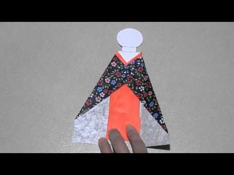How to make a Japanese doll bookmark