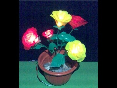 How to make a Lighted flowers from plastic cups