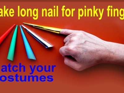 How To Make A Long Paper Nail For Pinky Finger