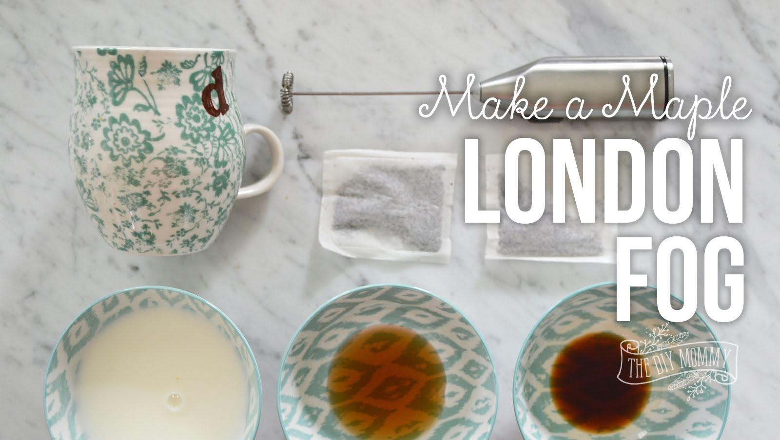 How to Make a Maple London Fog (Earl Grey Tea Latte). + The secret to frothy milk at home!