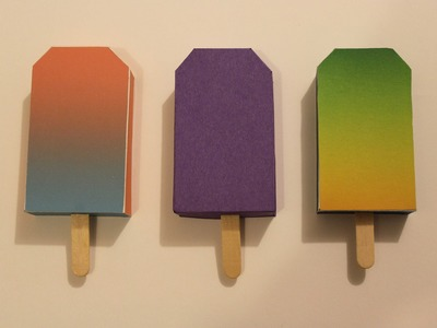 How to make a paper popsicle