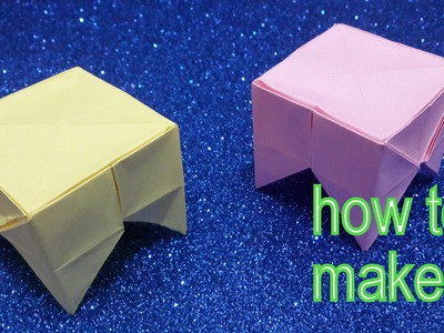 How to make a paper Table- Origami